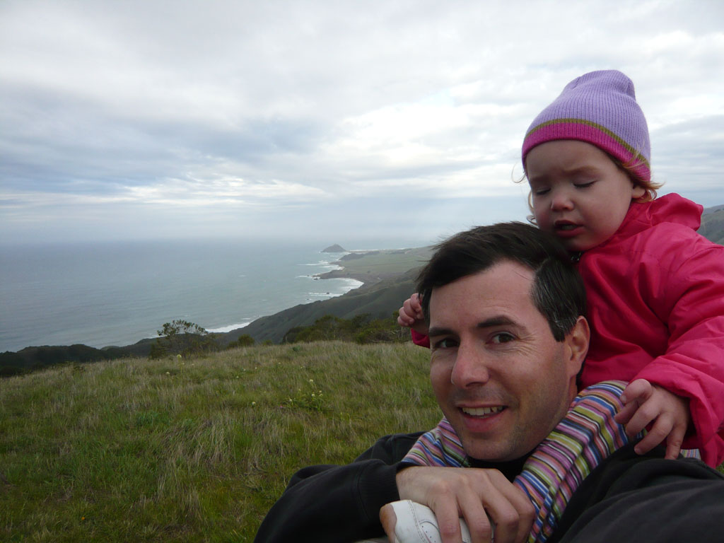 Grant and Ava on Clear Ridge