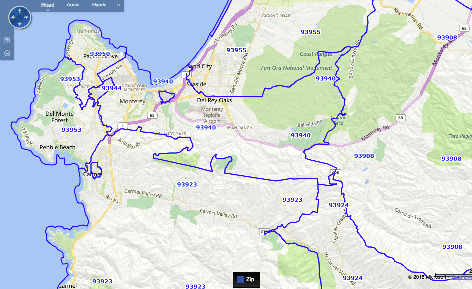 Monterey Zip Codes